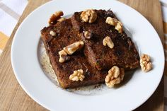 Butternut Squash French Toast with Walnuts @ How to Ice a Cake