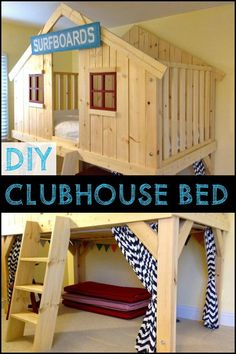 Diy Clubhouse Bed With Plans 200 For Lumber 300