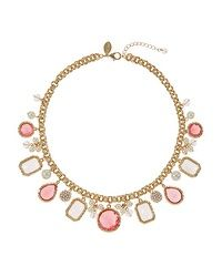 Coral & Pearl Charm Necklace