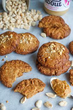 Pindakaas koeken – glutenvrij en melkvrij Desserts, Food, Tailgate Desserts, Deserts, Essen, Postres, Meals, Dessert, Yemek