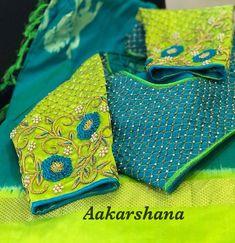 No photo description available. Wedding Saree Blouse Designs, Pattu Saree Blouse Designs, Stylish Blouse Design, Fancy Blouse Designs, Blouse Neck Designs, Sleeve Designs, Wedding Blouses, Dress Designs, Blouse Styles