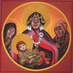 Andean Madonna & Child by Fr. Religious Icons, Religious Art, Pictures Of Mary, Jesus Pictures, Native American Spirituality, Father John, Mama Mary, Blessed Mother Mary, Biblical Art