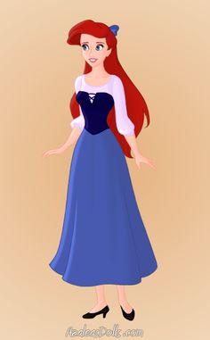 Ariel's blue outift. by GreyWardenNatasha.deviantart.com on @deviantART Disney Princess Outfits, Disney Princess Belle, Disney Princess Drawings, Disney Princesses, Princess Clothes, Disney Theme, Disney Pins, Disney Art, Disney Stuff