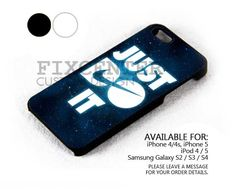 Nike Just Do It Blue Galaxy case for iPhone 4/4S/5 iPod 4/5 Galaxy S2/S3/S4