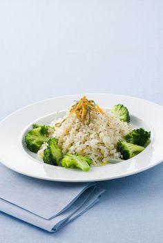 Riso al vapore con broccoletti