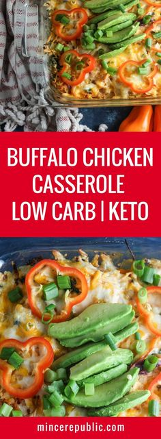 Buffalo Chicken Casserole recipe   The best Buffalo Chicken Casserole recipe!   low carb, ketogenic   mincerepublic.com