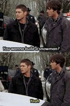 Supernatural meets Frozen....actually this episode was made wayyy before frozen was made so...