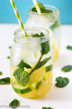 Slim down for summer with this pineapple mint infused water.