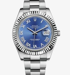 Rolex Datejust II Watch: White Rolesor - combination of 904L steel and 18 ct white gold – M116334-0004