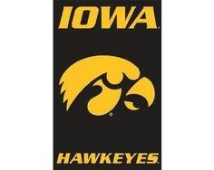 Iowa Hawkeyes Applique NCAA Banner Flag. #college-football #tailgating