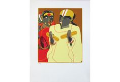 Thota Vaikuntam Painting Done using 48 Colours on Paper. It is a serigraph by T Vaikuntam. This art print is available in editions of Famous Indian Artists, Female Characters, Screen Printing, Colours, Paintings, Art Prints, Paper, Artwork, Screen Printing Press