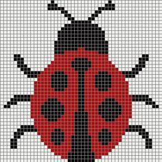 Best 11 several word charts, lady bug, mickey mouse, flower, ball and mushroom Crochet Chart, Crochet Motif, Crochet Stitches, Free Crochet, Cross Stitching, Cross Stitch Embroidery, Embroidery Patterns, Knitting Charts, Knitting Patterns