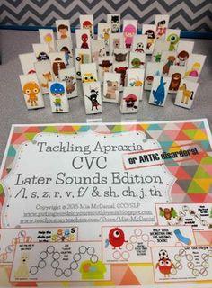 TACKLING APRAXIA {OR ARTIC DISORDERS} CVC LATER SOUNDS EDITION - TeachersPayTeachers.com
