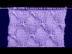 Cómo Tejer Punto Mariposa-Knit Butterfly Stitch 2 Agujas (301) - YouTube