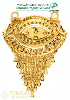Gold Pendants - View and shop our collection of gold pendants made in India - Indian Gold Jewelry - Buy Online Gold Jewellery Design, Gold Jewelry, Diamond Jewelry, Gold Choker Necklace, Gold Earrings, Gold Pendent, India Jewelry, Jewelry Patterns, Gold Bangles