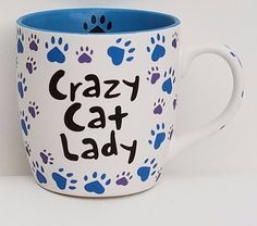 Cat Mug Cup Large 20 oz coffee, tea,hot chocolate or soup with hearts as paws…