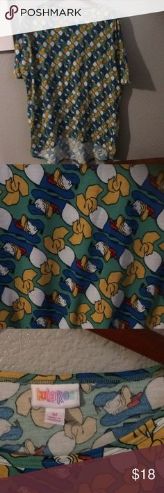 Irma Donald Duck 🦆 top Lularoe top  With Donald Duck print on it  Size M  Brand new LuLaRoe Tops