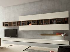 Sectional TV wall system SLIM 16 Slim Collection by Dall'Agnese | design Imago Design, Massimo Rosa
