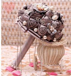 Великолепная свадебные цветы свадебные букеты жемчуг кристалл искусственные свадебный букет кристалл искра 2016 новый buque де noiva w11