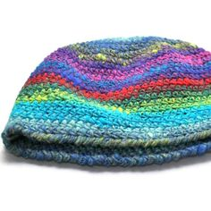 Multicolor Wool Beanie Adult by thepinkwoobie on Etsy, $30.00