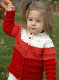Sweetheart Child's Eyelet CardiganThis knitting pattern / tutorial is available for free... Full post: Eyelet Cardigan