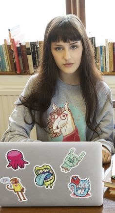 Laptop stickers are perfect for expressing yourself when you have to reign it in, like in class or the library. Bring unique art and creativity to your life with these vinyl stickers from Redbubble, easy to remove and restick.