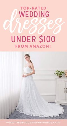 a44a6033b25 19 delightful Wedding Dresses Under 100 images