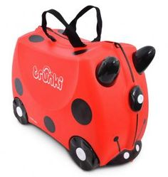 Trunki Ride-on kinder koffer Lieveheersbeestje Harley rood Häkelanleitung Baby, Hand Luggage, Luggage Store, Kids Ride On, Harley, Fashion Sale, Ladybug, Cleaning Wipes, Shopping