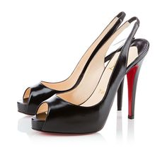 Christian Louboutin N Slingbacks Leather Black