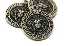 Buy Now Antique Bronze coins Medusa charms mm Medallion. Bronze Pendant, Coin Pendant, Medusa, Buy Now, Coins, Charms, Pendants, Personalized Items, Antiques
