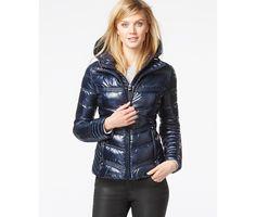 Laundry by Shelli Segal Hooded Metallic Puffer Coat - Coats - Women - Macy's