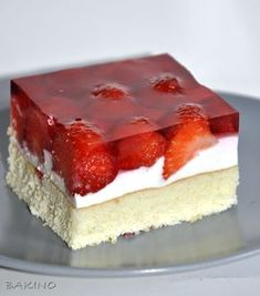Colorful and Entertaining Vegan Foods Polish Desserts, Polish Recipes, Cookie Desserts, Vegan Desserts, Sweet Recipes, Cake Recipes, Dessert Recipes, Easy To Make Desserts, Baked Strawberries