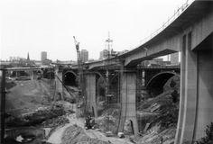 Construction of Byker Metro Bridge, 1978