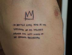 Vitor Novato - Tattoo Jean-Michel Basquiat