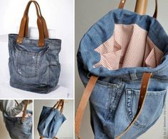 Repurposed Denim Jeans jeans diy craft crafts diy crafts do it yourself diy projects diy fashion diy and craftsDenim Jeans Bag Pattern Video Tutorial Some of our posts contain affiliate links to products, meaning that we may earn a small commission i Denim Handbags, Denim Tote Bags, Diy Tote Bag, Denim Purse, Denim Bag Tutorial, Diy Bags Tutorial, Bag Tutorials, Sewing Tutorials, Jean Diy