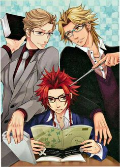 Ukyo, Kaname & Yusuke -- poor Yusuke, the worst student in the family