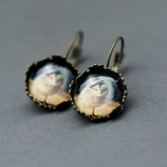 Chick In A Top Hat Earrings, $9.50, now featured on Fab.