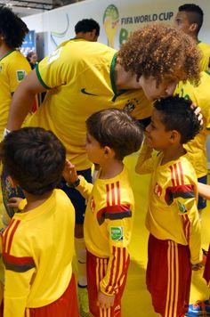 David Luiz, um dos homens mais humildes que eu já vi.