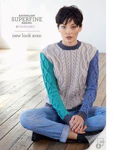 new look, aran, women, 8 ply, pattern, superfine, merino, Cleckheaton