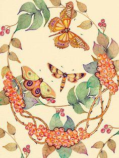 borboletas na janela.
