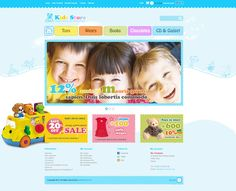 Kid Stores E-Commerce PSD Web Template