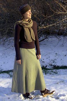 Polar fleece winter skirt.  Super warm skirts custom made for you