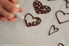 Piped chocolate cupcake toppers how-to