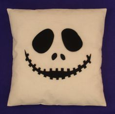 The Nightmare Before Christmas Cushion Cover Pillow Jack Skellington Halloween…