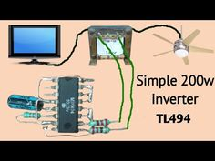 Hello friends, in this video i have shown how to make a to inverter just using ic. Here I have shown only because my battery is only cap. Electrical Engineering Books, Electrical Projects, Electronic Engineering, Electrical Installation, Electrical Wiring, Electronics Mini Projects, Hobby Electronics, Electronics Gadgets, Electronic Circuit Design