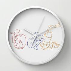 Key Frames -Chihiro  Wall Clock by Minette Wasserman - $30.00