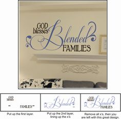 Celebrate the BLENDED FAMILY with this cool wall decal. (Step Father Relationships)