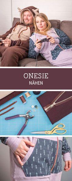 #nähanleitung für einen angesagten Jumpsuit im Winterstil / #sewingpattern for an onesie via DaWanda.com