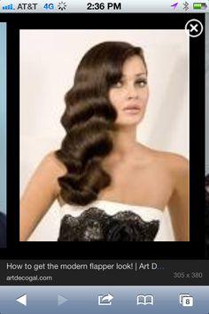 Wedding hair-do Finger curl