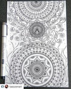 #Repost @tasozenart #drawing #draw #dessin #mandala #mandalaart #art #copic #Zenart #artwork #zentangle #artistic #artist #zendoodle #doodling #doodleart #doodles #doodle #sketching #sketch #inked #ink #tattoo #tatouage #tangled #featuregalaxy #lineart #illustration #inspired